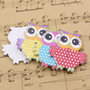 Wholesale Mixed color Lead-free Owl Wooden Button Beads 34x32mm Sold by PC
