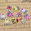 Wholesale Mixed color Lead-free Frog Wooden Button Beads 31x23mm Sold by PC