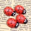 Mixed color Wooden Cabochons Ladybug For Barrette/Decoration Jewelry DlY-Accessories 12x9mm Sold by PC