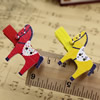 35mm Wood Cute cartoon Horse wood clips for memo card clamp wooden paper pegs photo clamp Memo Note Clips Sold by PC