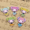 Wholesale Mixed color Lead-free Girl Wooden Button Beads 30x28mm Sold by PC