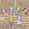 Mixed color Wooden Cabochons Girl For Barrette/Decoration Jewelry DlY-Accessories 30x17mm Sold by PC