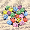 Mixed color Wooden Cabochons Ladybug For Barrette/Decoration Jewelry DlY-Accessories 13x9mm Sold by PC