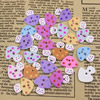 Wholesale Mixed color Lead-free Mushroom Wooden Button Beads 19x17mm Sold by PC