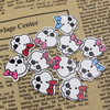 Wholesale Mixed color Lead-free Animal Wooden Button Beads 20x18mm Sold by PC