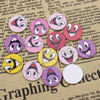 Mixed color Wooden Cabochons Smiling face For Barrette/Decoration Jewelry DlY-Accessories 17x7mm Sold by PC
