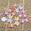 Mixed color Wooden Cabochons Girl For Barrette/Decoration Jewelry DlY-Accessories 19x14mm Sold by PC