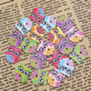 Wholesale Mixed color Lead-free Owl Wooden Button Beads 20x12mm Sold by PC