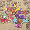 Mixed color Wooden Cabochons Hare For Barrette/Decoration Jewelry DlY-Accessories 20x12mm Sold by PC