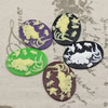 Cameos Resin Beads, Mixed color,A Grade, No-Hole Jewelry findings, 40x30mm ,Sold by PC