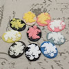 Cameos Resin Beads, Mixed color,A Grade, No-Hole Jewelry findings, 39.5x30mm ,Sold by PC
