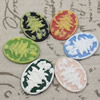 Cameos Resin Beads, Mixed color,A Grade, No-Hole Jewelry findings, 39x30mm ,Sold by PC