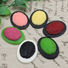 Cameos Resin Beads, Mixed color,A Grade, No-Hole Jewelry findings, 39x29mm ,Sold by PC