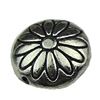 Beads. Fashion Zinc Alloy jewelry findings.12x12mm. Hole size:1mm. Sold by KG