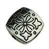 Beads. Fashion Zinc Alloy jewelry findings.10x10mm. Hole size:1mm. Sold by KG
