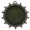 Zinc Alloy Cabochon Settings. Fashion Jewelry Findings. 42x42mm Inner dia 30x30mm. Sold by KG