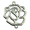 Connector. Fashion Zinc Alloy Jewelry Findings.Flower 35x42mm. Sold by KG