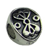 Europenan style Beads. Fashion jewelry findings.8x11mm, Hole size:4.5mm. Sold by KG