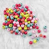 Wooden Beads, Fashion DIY-accessories for Bracelet/Necklace Mixed color Round 8.5x6.5mm,Hole:3mm Sold by PC