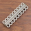 Magnetic Clasps, Zinc Alloy Bracelet Findinds,57x17mm, Hole size:3mm, Sold by PC