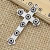 Pendant. Fashion Zinc Alloy jewelry findings.Cross 45x24mm. Sold by KG