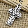 Pendant. Fashion Zinc Alloy jewelry findings.Cross 21x12mm. Sold by KG