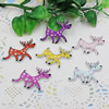 Wooden Pendant, Fashion DIY-accessories Mixed color Animal 38x28mm, Sold by PC