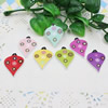Wooden Pendant, Fashion DIY-accessories Mixed color Heart 30x22mm, Sold by PC