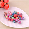 Pottery Clay Beads, Round 6mm Hole:approx 1.5mm ,Sold by PC