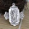 Pendant. Fashion Zinc Alloy jewelry findings.Cross 50x45mm. Sold by KG