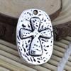 Pendant. Fashion Zinc Alloy jewelry findings.Cross 29x20mm. Sold by KG