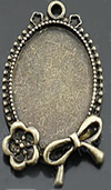 Zinc Alloy Brooch Cabochon Settings.Fashion Jewelry Findings.Inner dia:18x25mm. Sold by PC