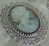 Zinc Alloy Brooch Cabochon Settings.Fashion Jewelry Findings.Inner dia:30x40mm. Sold by PC