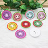 Wholesale Mixed color Lead-free Wooden Button Beads 27mm Sold by PC