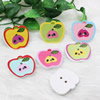Wholesale Mixed color Lead-free Apple Wooden Button Beads 25.5x28mm Sold by PC