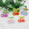 Wholesale Mixed color Lead-free Cherry Wooden Button Beads 27mm Sold by PC