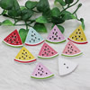 Wholesale Mixed color Lead-free Watermelon Wooden Button Beads 27x29mm Sold by PC