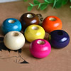 Wooden Beads, Fashion DIY-accessories for Bracelet/Necklace Mixed color Rondelle 20x29mm,Hole:10mm Sold by PC