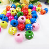 Wholesale Mixed Wood Beads Lead-free Round Wooden Beads For DIY jewelry Finding 12x13mm Hole:3mm Sold by PC