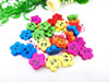 Wholesale Mixed Wood Beads Lead-free Smile Face Wooden Beads For DIY jewelry Finding 20mm Hole:2.5mm Sold by PC