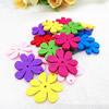 Wooden Pendant, Fashion DIY-accessories Mixed color 26x25mm, Sold by PC