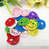 Wooden Pendant, Fashion DIY-accessories Mixed color 28x25mm, Sold by PC