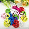 Wooden Pendant, Fashion DIY-accessories Mixed color 27x25mm, Sold by PC