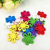 Wooden Pendant, Fashion DIY-accessories Mixed color 24x25mm, Sold by PC