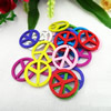 Wooden Pendant, Fashion DIY-accessories Mixed color 25x25mm, Sold by PC