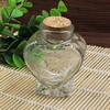 Small Tiny Clear Empty Wishing Drift Glass mini cute Bottle Message Vial With Cork Stopper 41x62x75mm Height 75mm Sold by PC