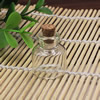 Small Tiny Clear Empty Wishing Drift Glass mini cute Bottle Message Vial With Cork Stopper 11x22mm Height 22mm Sold by PC