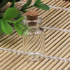Small Tiny Clear Empty Wishing Drift Glass mini cute Bottle Message Vial With Cork Stopper 14x27mm Height 27mm Sold by PC