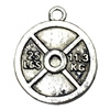 Pendant. Fashion Zinc Alloy jewelry findings.Flat Round 18x22mm. Sold by Bag
