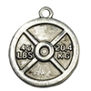 Pendant. Fashion Zinc Alloy jewelry findings.27x24mm.Sold by Bag